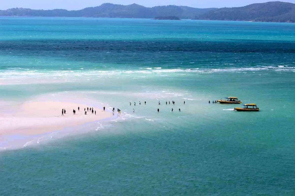 whitehaven beach at Whitsunday Island